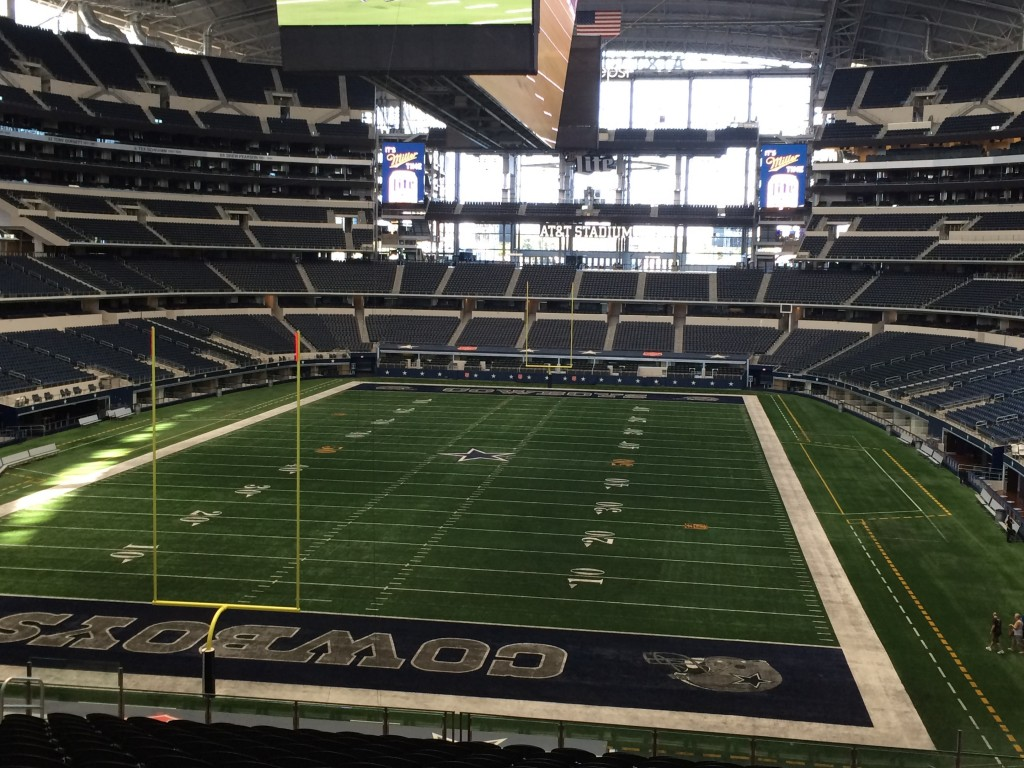 View from end zone