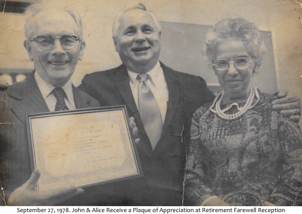 Farewell Reception - September 1978
