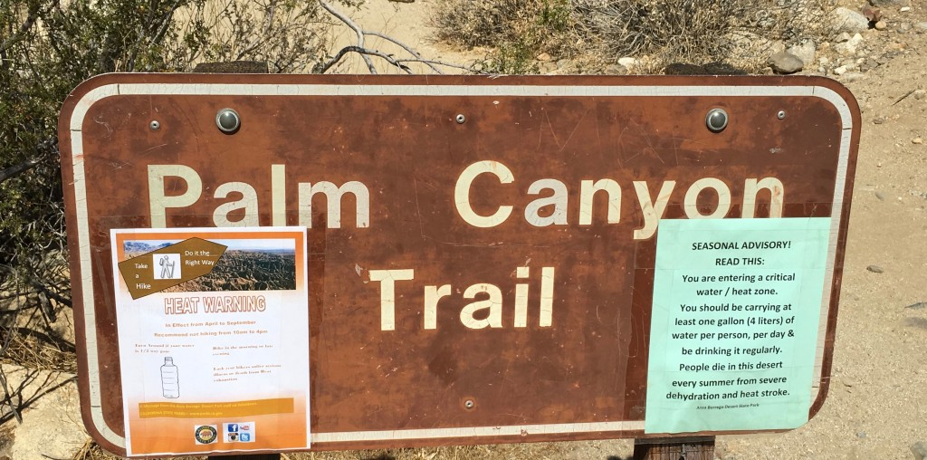 D-Palm Canyon Trail Sign
