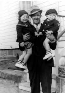 Alfred, Bev & Carl 1938